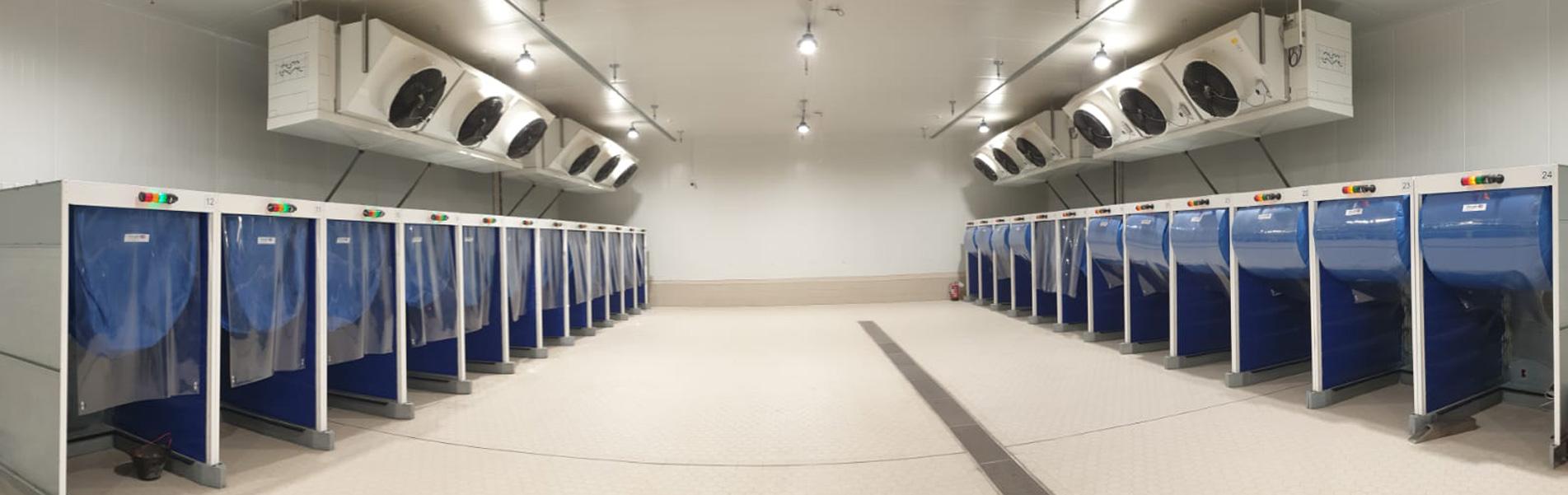 Blast cooling room